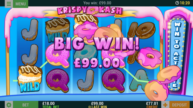 Krispy Kash mobile slots at Cashmo online casino