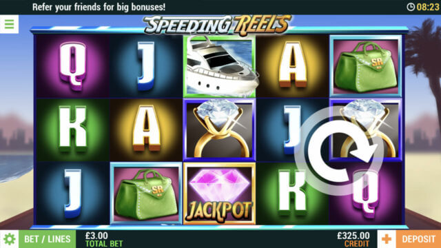 Speeding Reels mobile slots at Cashmo mobile casino