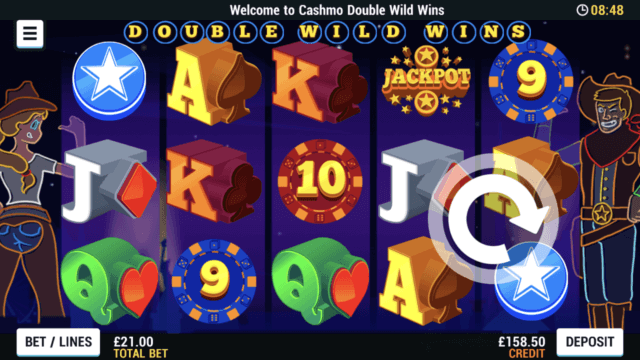 Double Wild Wins mobile slots at Cashmo Casino