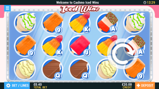 Iced Wins mobile slots at Cashmo Casino