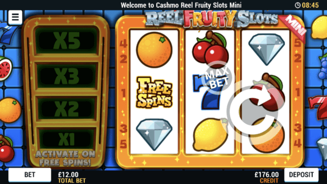 Reel Fruity Slots Mini mobile slots at Cashmo Casino