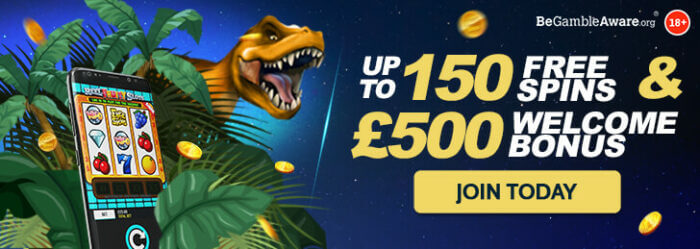 Up to 150 free spins & £500 welcome bonus! T&Cs apply