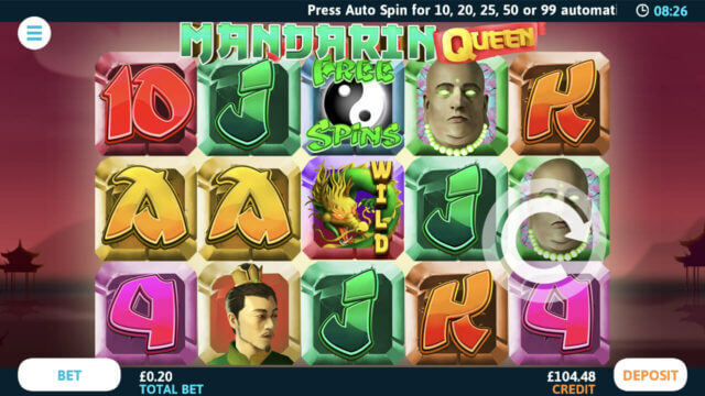 Mandarin Queen mobile slots at Cashmo online casino