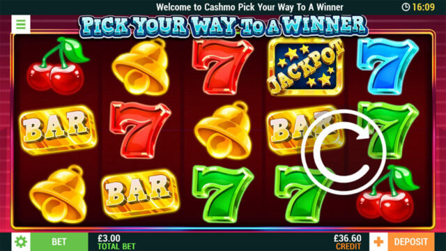 Pick Your Way to a Winner online slots at Cashmo Mobile Casino - in game image